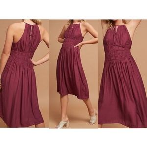 Anthropologie Moulinette Soeurs silky ruched dress